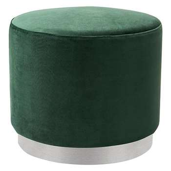 Senio Circular Stool Bottle Green (H45 x W50 x D50cm)