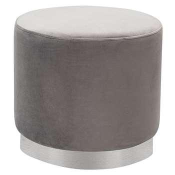 Senio Circular Stool Grey (H45 x W50 x D50cm)