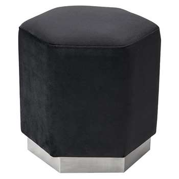 Senio Hexagonal Stool Black (H44 x W44 x D44cm)