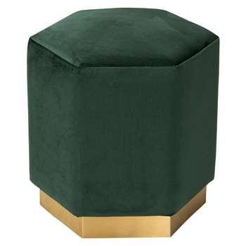 Senio Hexagonal Stool Bottle Green (H44 x W44 x D44cm)