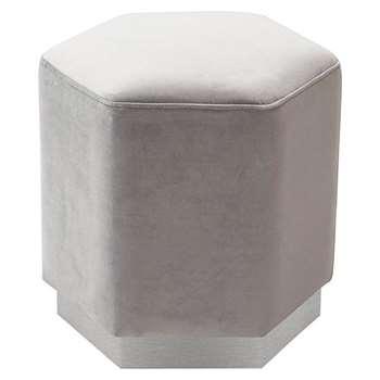 Senio Hexagonal Stool Grey (H44 x W44 x D44cm)