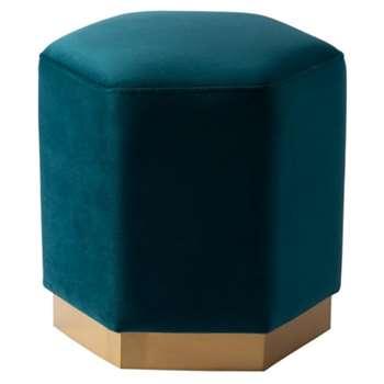 Senio Hexagonal stool Teal (H44 x W44 x D44cm)