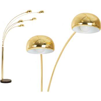 Senk, Floor Lamp Brass (221 x 113cm)