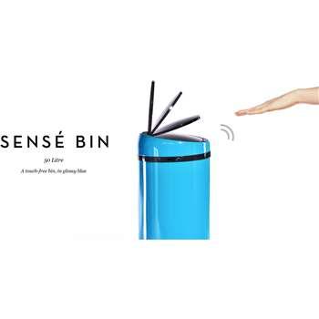 Sensé Touch-free Bin 50L, Blue (85 x 31cm)