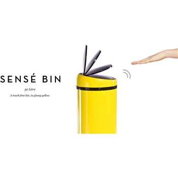 Sensé Touch-free Bin 50L, Yellow (85 x 31cm)