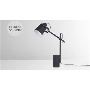 Seppo Table Lamp, Black (H55 x W10 x D30cm)