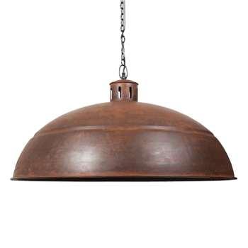 SÉRAPHIN rusted look metal pendant lamp (45 x 82cm)