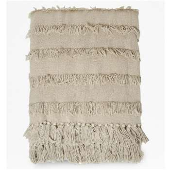 Seraphina Natural Tassel Throw - Beige (H130 x W170cm)