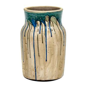 Serax - Green/Blue Drops Vase - Medium (46 x 21cm)