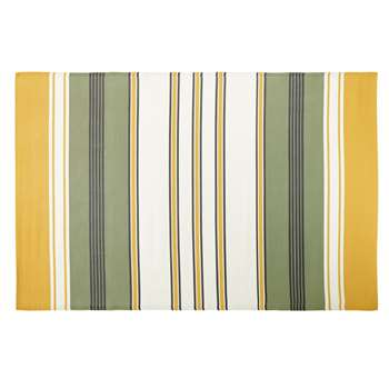 SERENGETI Outdoor Rug with Multicoloured Stripe Print (H180 x W270cm)