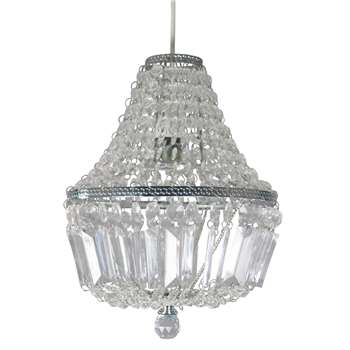 Servlite Lucille Pendant Light Shade Chrome (H26 x W23 x D23cm)