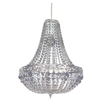 Servlite Madison Pendant Light Shade Chrome (H43 x W36 x D36cm)