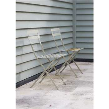 Set of 2 Bistro Chairs in Clay - Steel (78 x 50cm)
