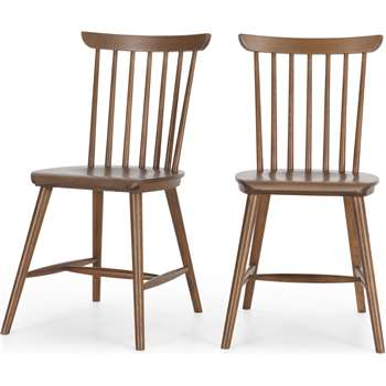 Set of 2 Deauville Dining Chairs, Dark stain Oak (H84 x W46.5 x D56.5cm)