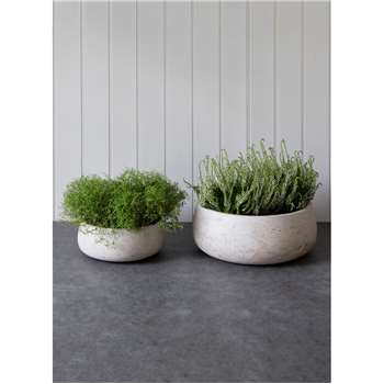 Set of 2 Stratton Bowls in Stone - Cement