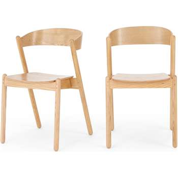 Set of 2 Yaunti Dining Chairs, Ash (H76 x W49 x D47cm)