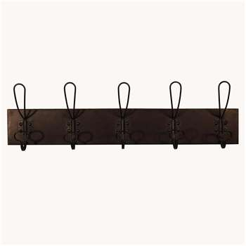 Set of Five Metal Wall Hooks (H10.5 x W65 x D10.5cm)
