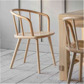 Set of Two Ash Carver Chairs (H76 x W53 x D54.5cm)