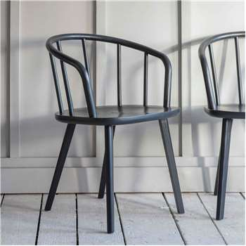 Set of Two Carbon Carver Chairs (H76 x W53 x D54.5cm)