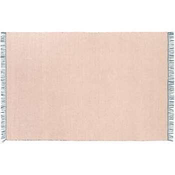 Seth Reversible Cotton Flatweave Rug, Teal and Pink (H120 x W170cm)