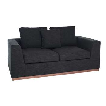 Seville sofa bed two seater charcoal (68 x 190cm)