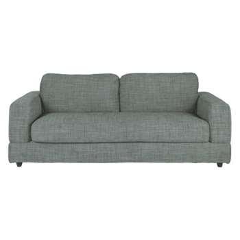 Seymour Grey Italian woven fabric 3 seater sofa bed