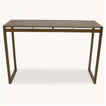 Seymour Shagreen Console Table in Antique Brass Finish (80 x 120cm)