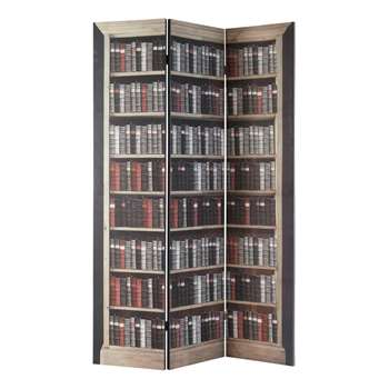 Shakespeare Printed Wood Folding Screen (180 x 120cm)