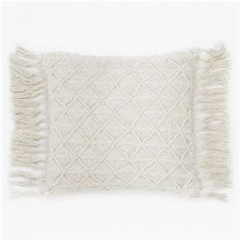 Shani Tassel Cushion - Cream (H45 x W45cm)