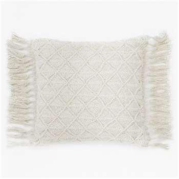 Shani Tassel Cushion - Cream (H45 x W45cm)