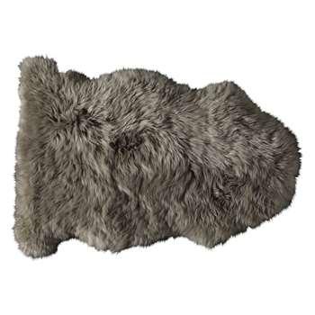 Sheepskin rug in beige (55 x 90cm)