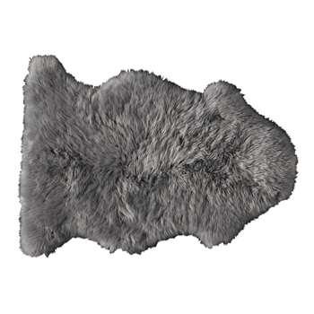 Sheepskin rug in grey (H55 x W90cm)