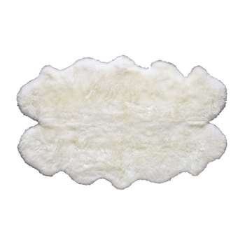 Sheepskin rug in ivory (110 x 180cm)