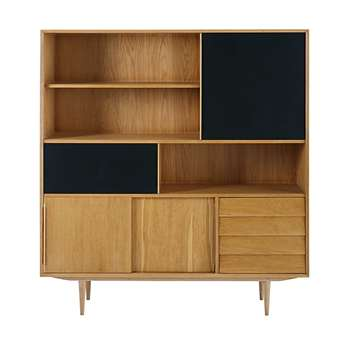 SHEFFIELD Two-tone bookcase (170 x 155cm)