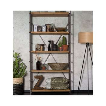 Shelf Iron Display Cabinet in Industrial Style 200 x 100cm