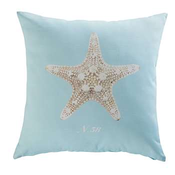 SHELTER starfish print fabric outdoor cushion (45 x 45cm)