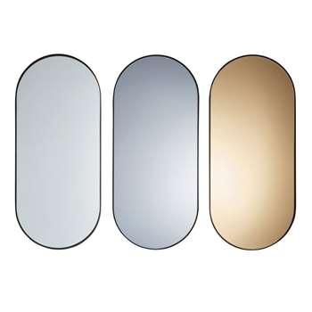 SHELTON 3 Black Metal Mirrors (H70 x W30 x D6cm)