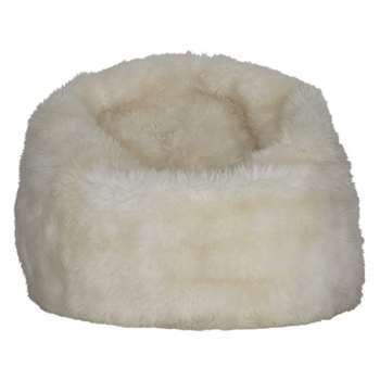 Sheppy Cream long wool sheepskin beanbag