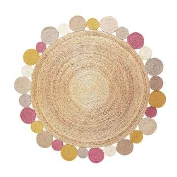 Sherbet Flower Weave Rug (Diameter 155cm)