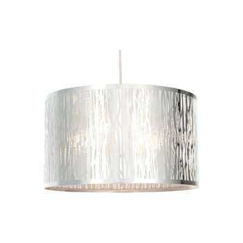 Sherwood Pendant Light Shade Polished Chrome (H23 x W40 x D40cm)