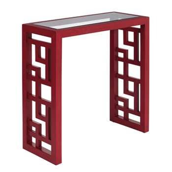 Shiga Console/Side Table, Small - Chinese Red (57 x 57cm)