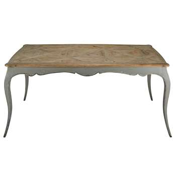 SIDONIE Recycled pine and grey poplar dining table (77 x 185cm)