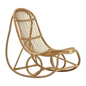Sika-Design - Nanny Rattan Rocking Chair - Natural (H97 x W66 x D100cm)