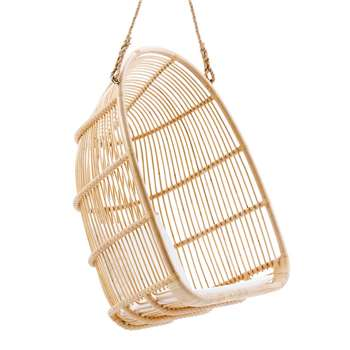 Sika Rattan Renoir Hanging Chair in Natural (H113 x W75 x D68cm)