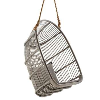 Sika Rattan Renoir Hanging Chair in Taupe (H113 x W75 x D68cm)