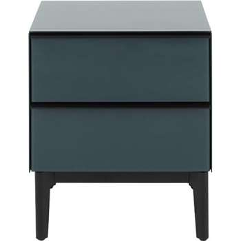 Silas Bedside Table, Teal Mirror (55 x 48cm)