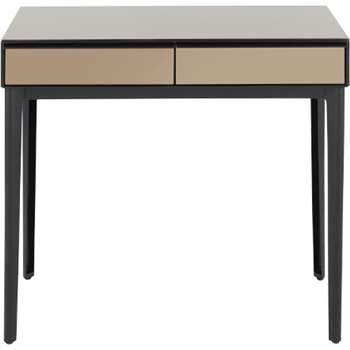 Silas Dressing Table, Toughened Glass (H78 x W90 x D40cm)