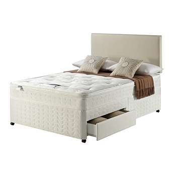 Silentnight Miracoil Travis Ortho Double 2 Drw Divan Bed 61 x 190cm