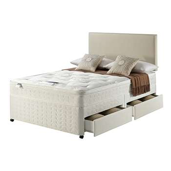 Silentnight Miracoil Travis Ortho Double 4 Drw Divan Bed 61 x 190cm