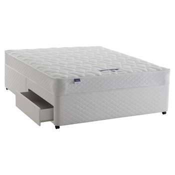 Silentnight Sleep Soundly Miracoil Comfort Divan Base and Mattress Set, FSC-Certified (Picea Abies, Chipboard), Firm, Double (H60 x W190 x D135cm)